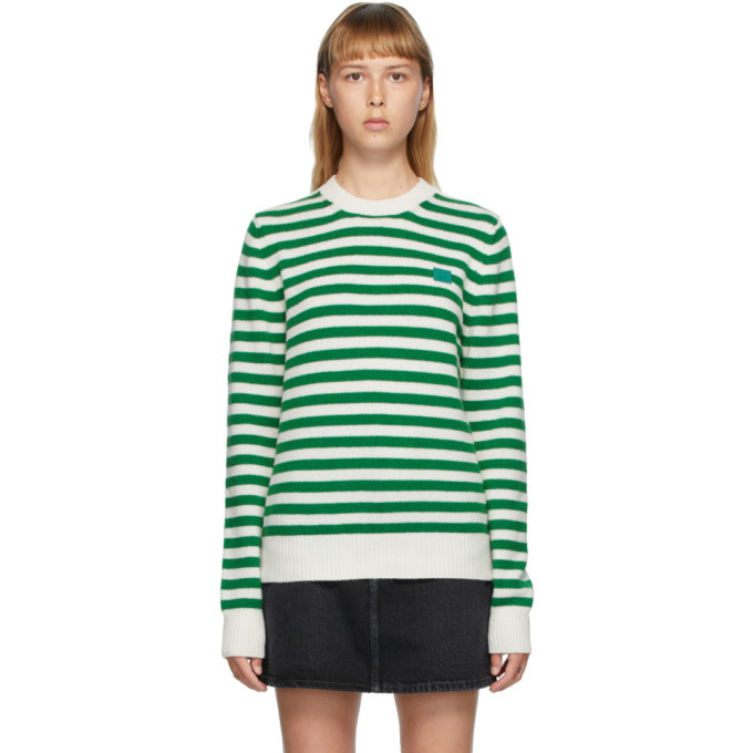 Photo: Acne Studios Green and White Breton Stripe Sweater