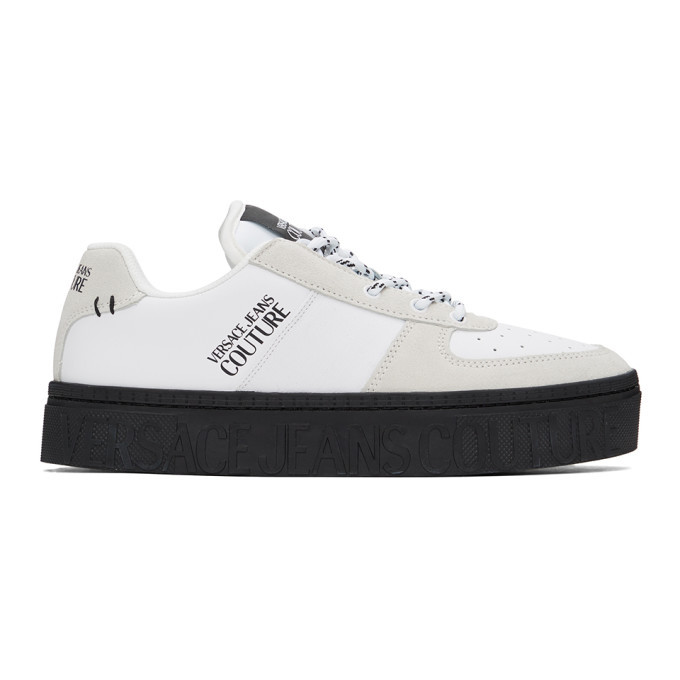Photo: Versace Jeans Couture Black and White Platform Low-Top Sneakers