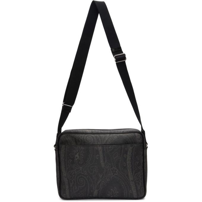 Photo: Etro Black Paisley Messenger Bag