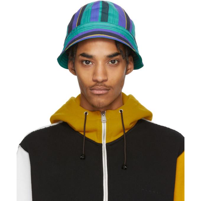 Photo: Marni Multicolor Striped Poplin Bucket Hat