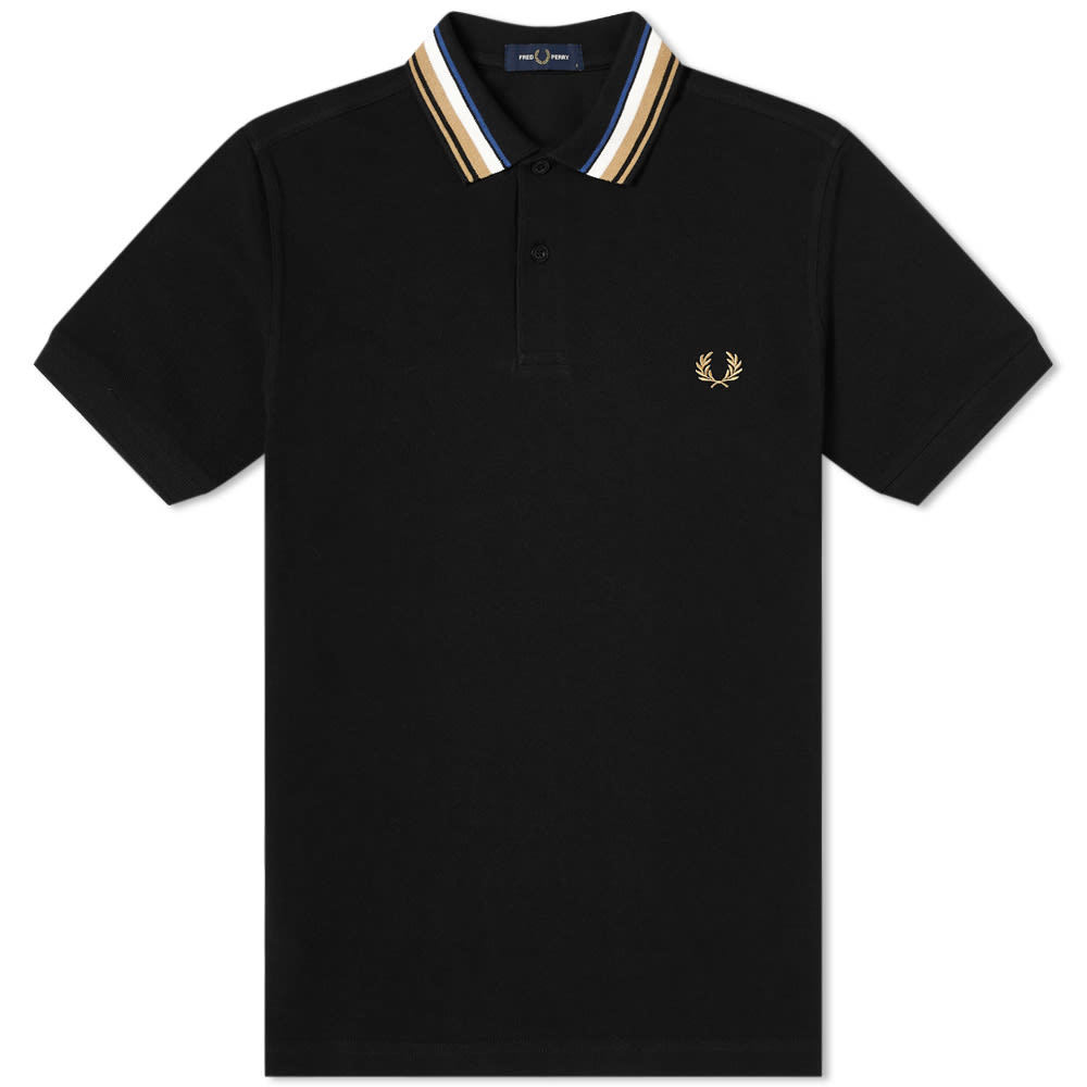 Photo: Fred Perry Authentic Gradient Striped Collar Polo