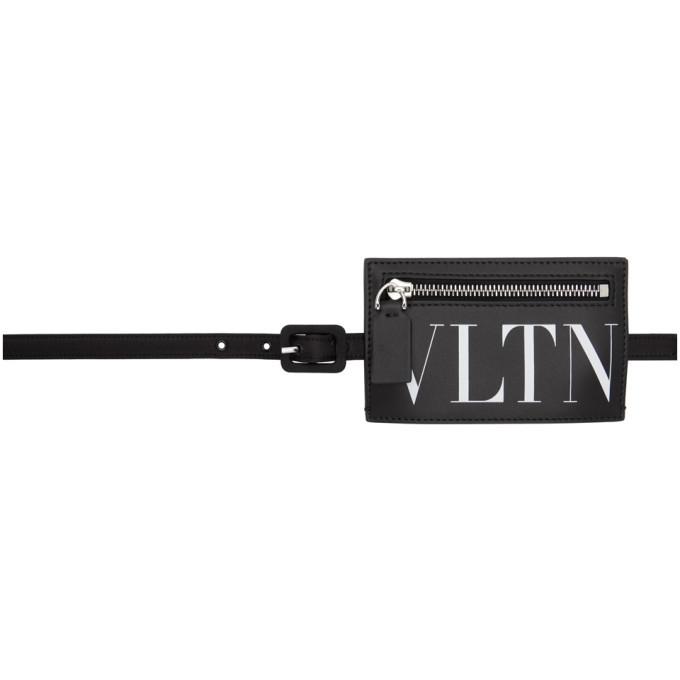 Photo: Valentino Black Valentino Garavani VLTN Buckle Belt