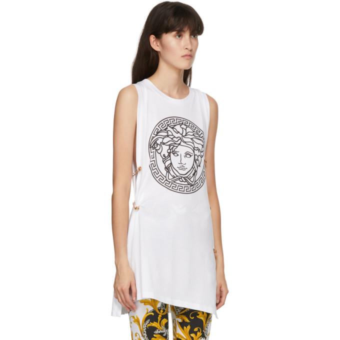 Versace White Medusa Tank Top