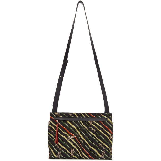 Photo: Loewe Black Paulas Ibiza Flag Logo Messenger Bag