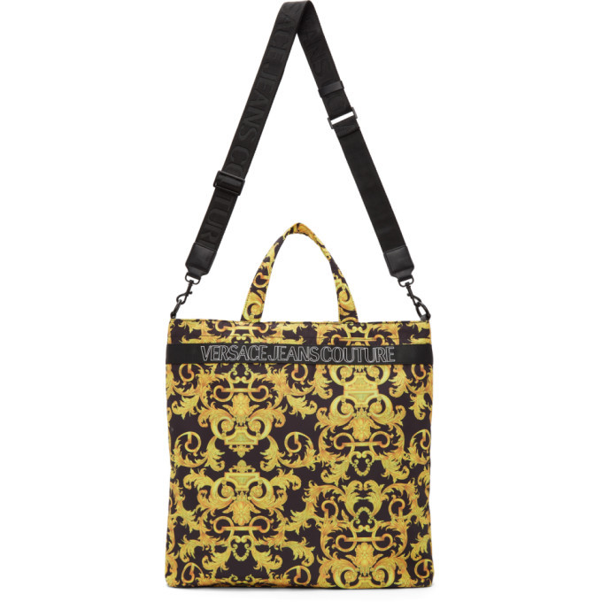Photo: Versace Jeans Couture Black and Gold Baroque Tote