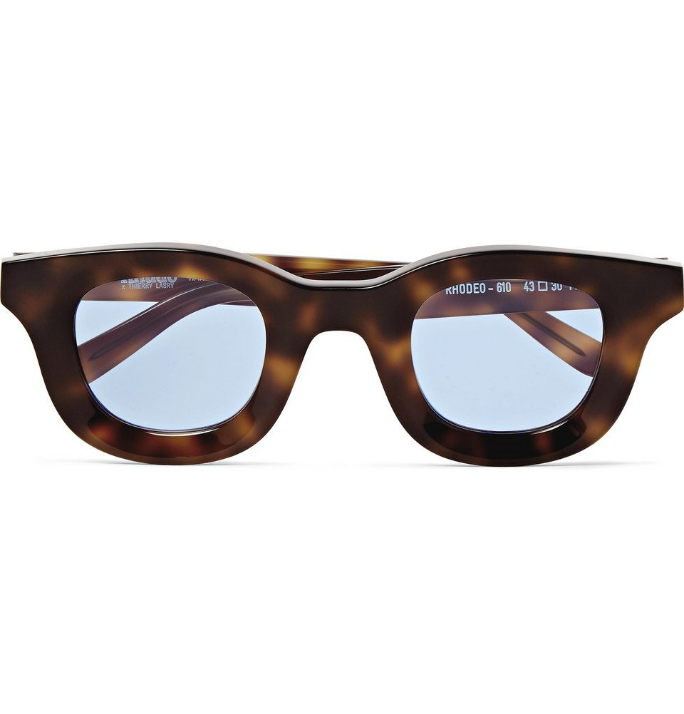 Photo: Rhude - Thierry Lasry Rhodeo Square-Frame Tortoiseshell Acetate Sunglasses - Brown