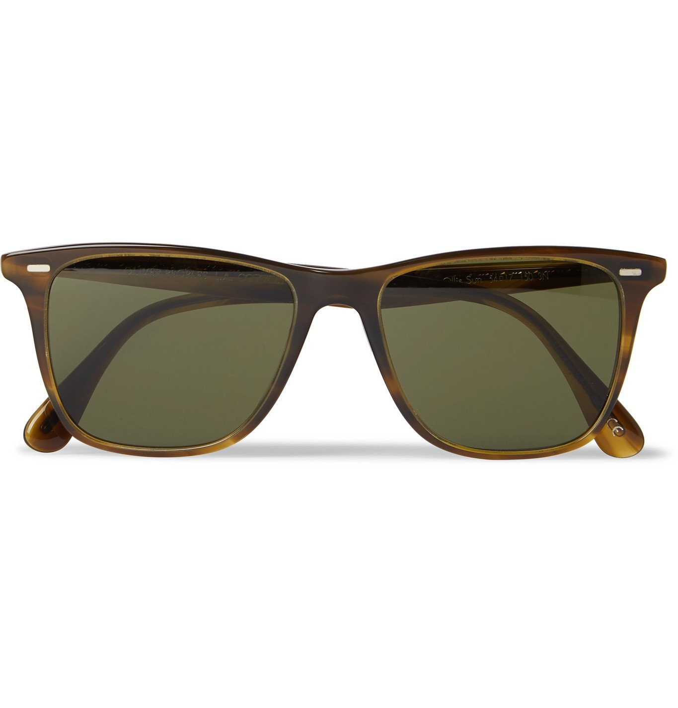 Photo: OLIVER PEOPLES - Ollis Sun Square-Frame Acetate Polarised Sunglasses - Brown