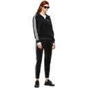 adidas Originals Black Velour Cozy Half-Zip Hoodie