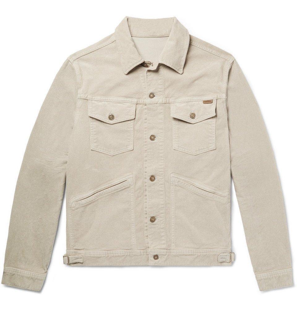 Photo: TOM FORD - Cotton-Blend Corduroy Trucker Jacket - Beige