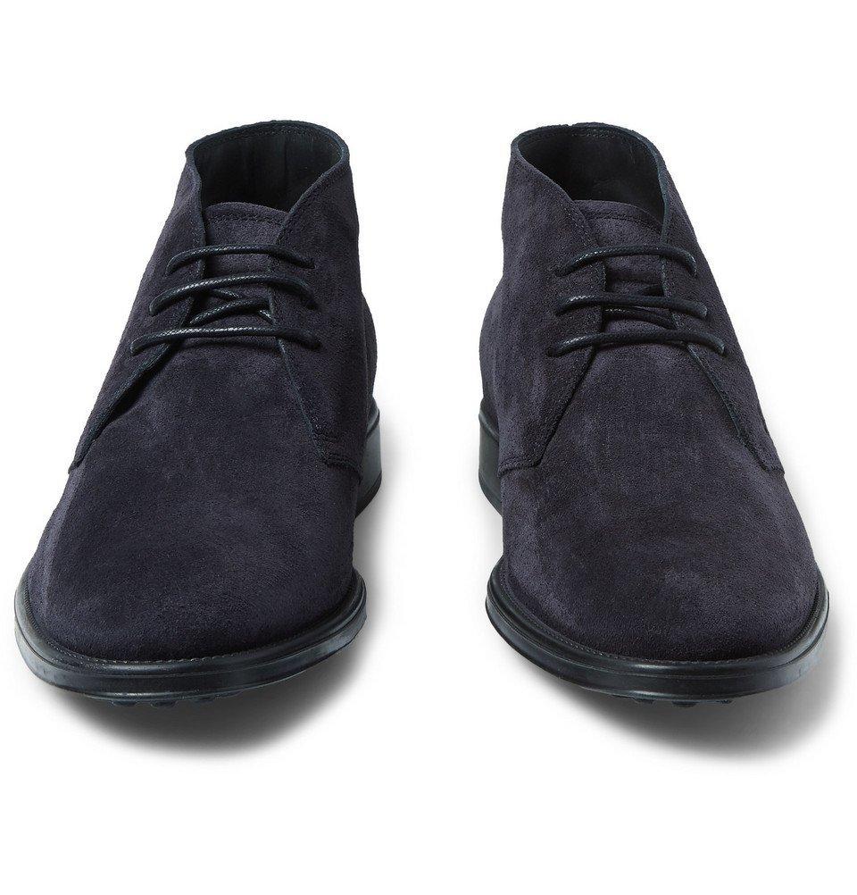 Tod's - Suede Desert Boots - Men - Navy