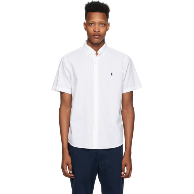 Photo: Polo Ralph Lauren White Seersucker Classic Fit Shirt