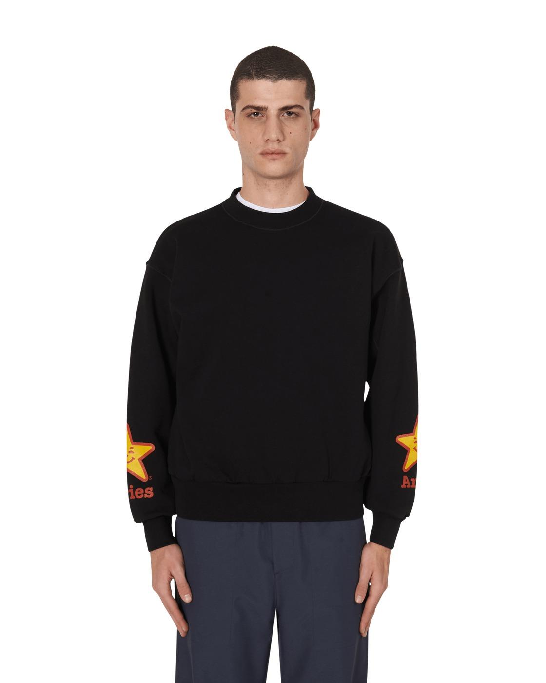 Aries Food Crewneck Sweatshirt Black