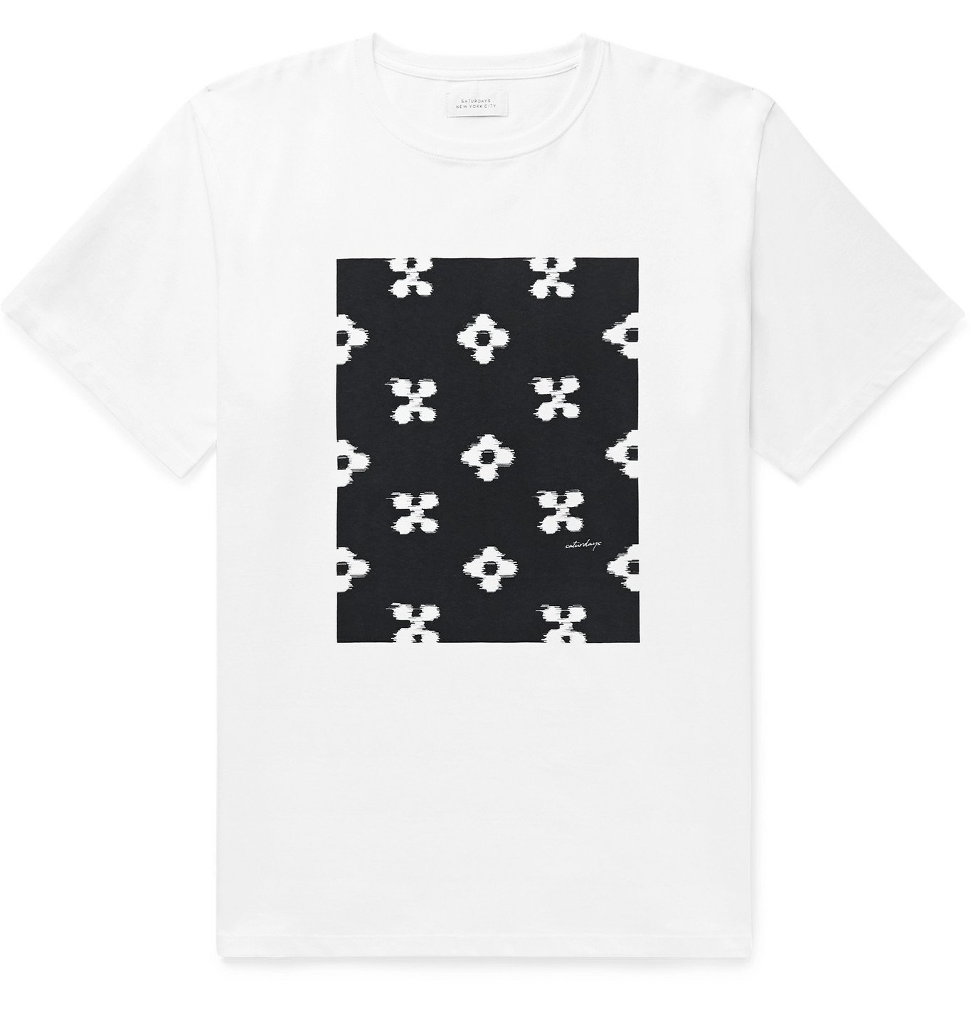 Photo: Saturdays NYC - Printed Cotton-Jersey T-Shirt - White