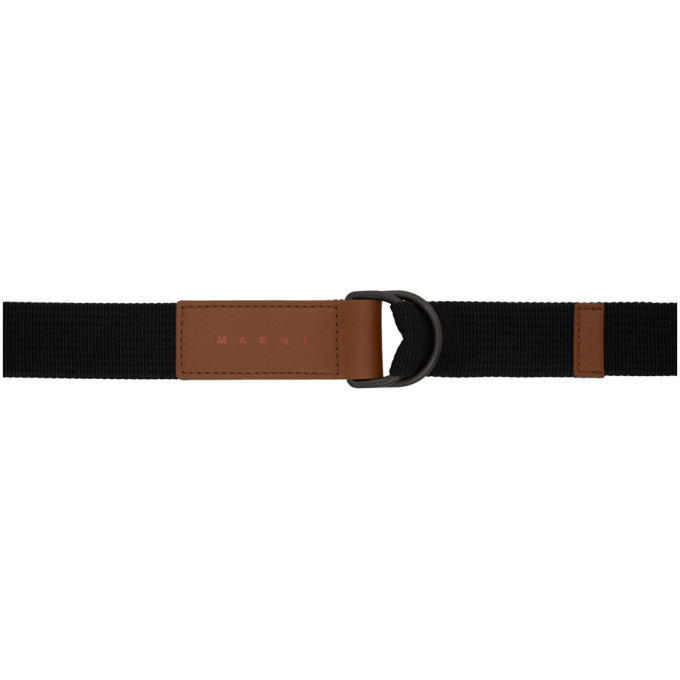 Marni Black and Brown Webbing Belt