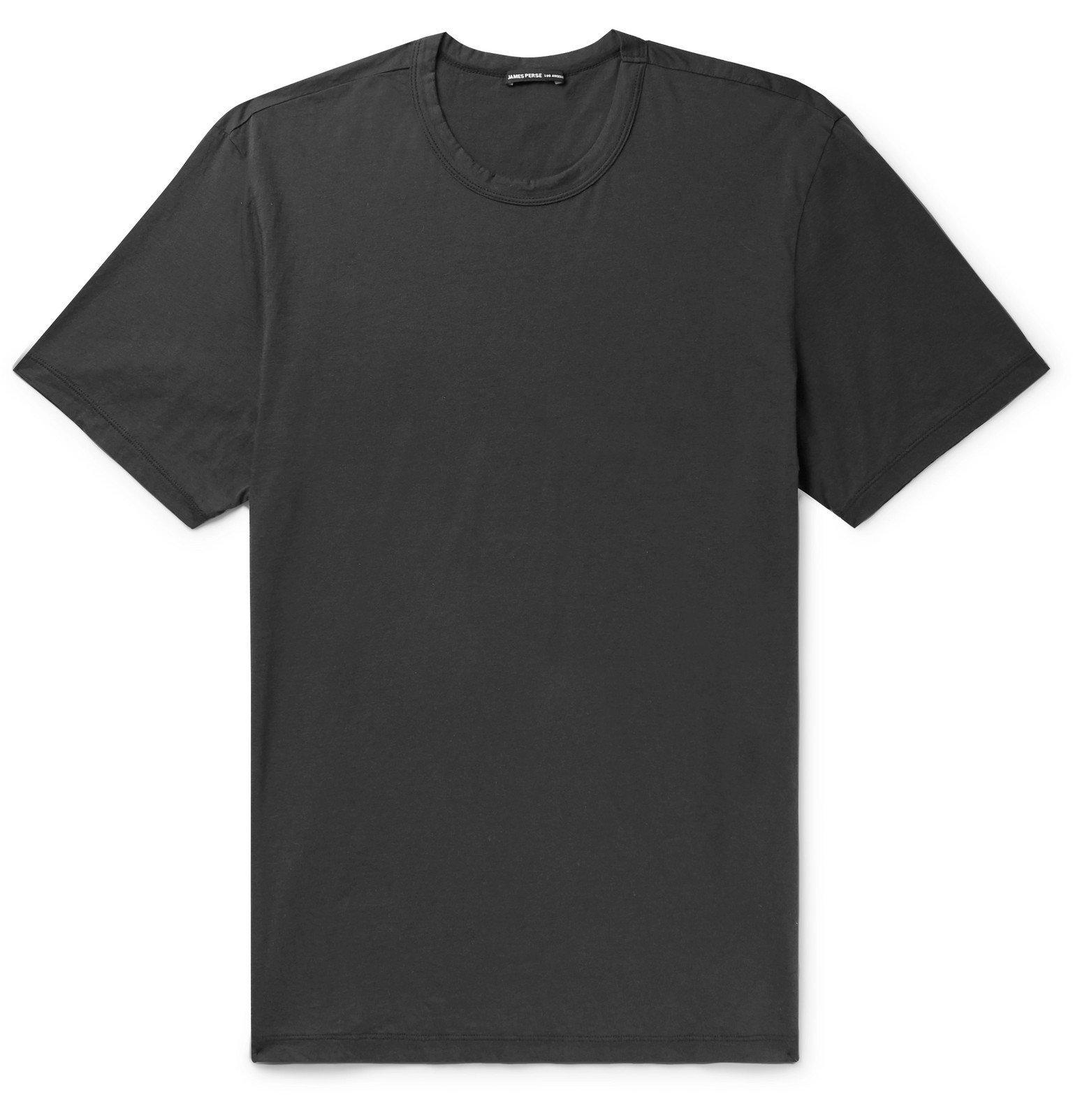 Photo: James Perse - Lotus Slim-Fit Cotton-Jersey T-Shirt - Gray