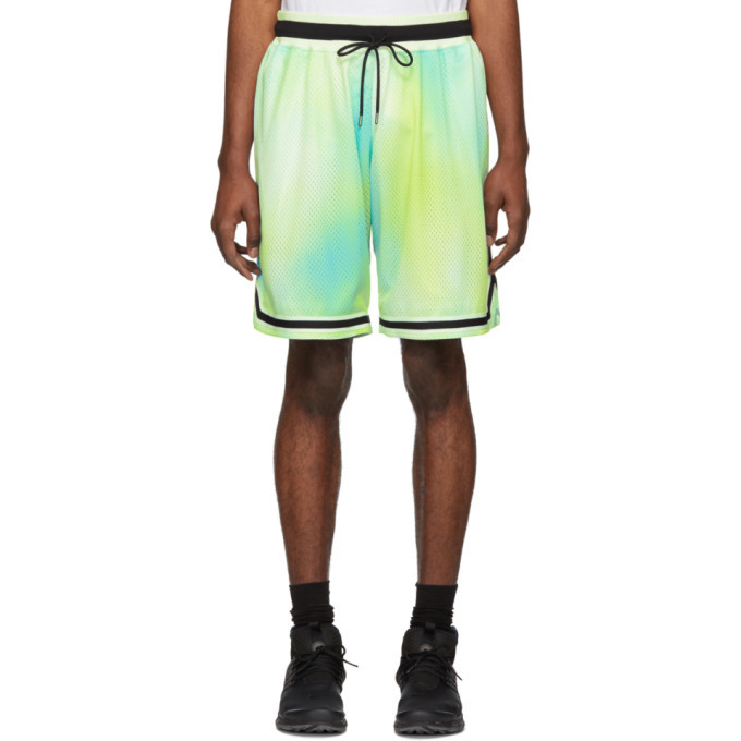 Photo: John Elliott Multicolor Sour Skittles Tie-Dye Shorts