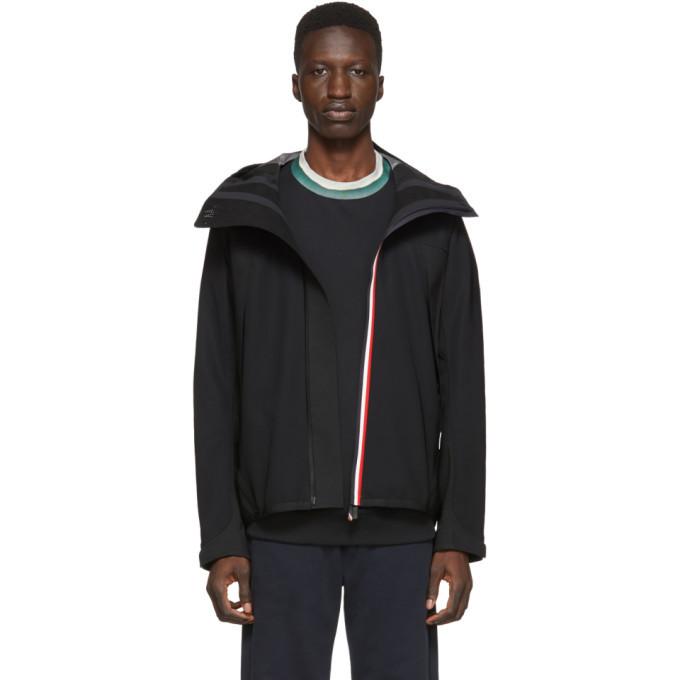 Photo: Moncler Grenoble Black Maglia Zip-Up Jacket