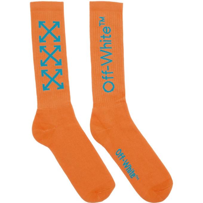 Photo: Off-White Orange and Blue Arrows Socks