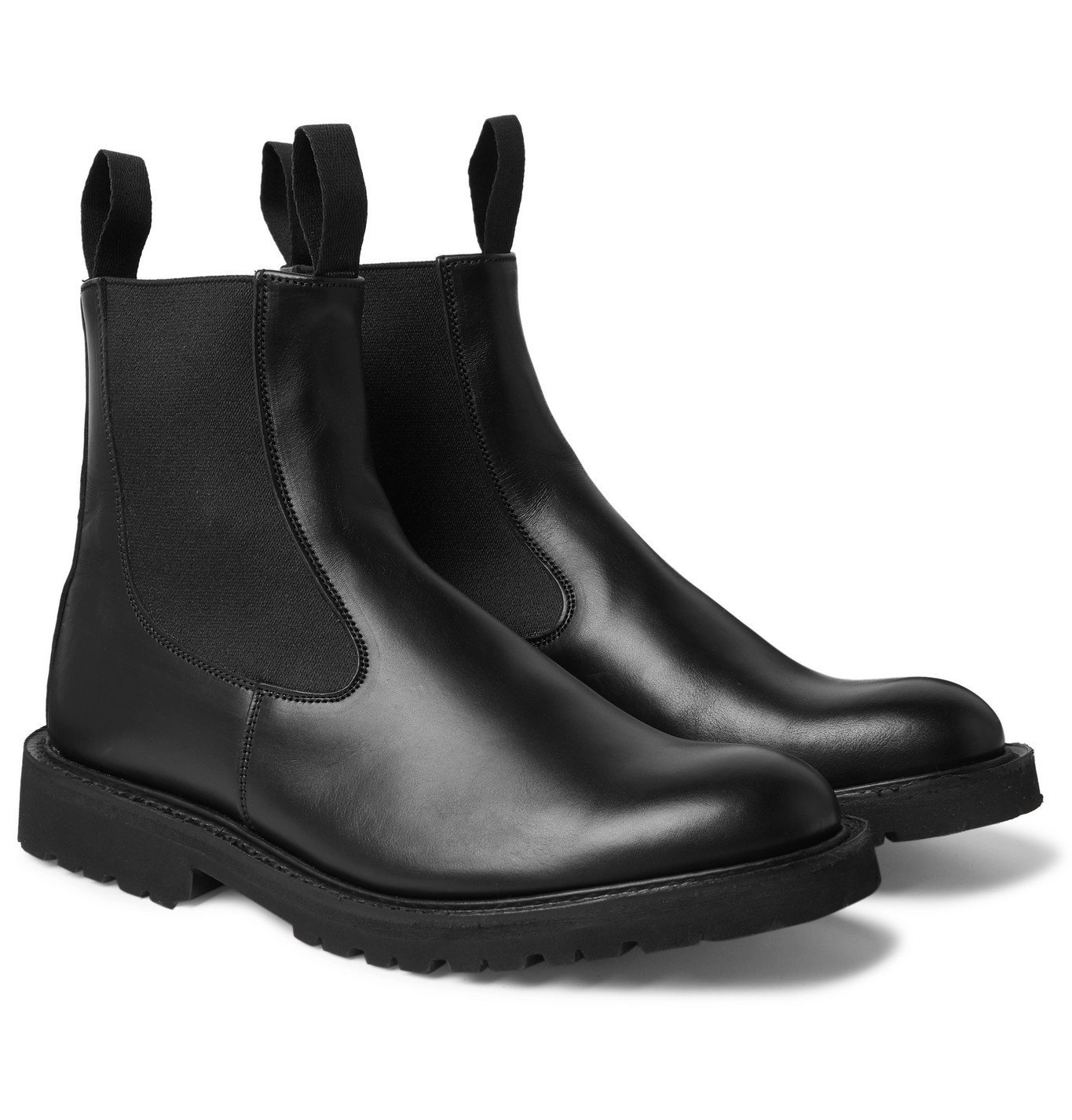 Photo: Tricker's - Stephen Leather Chelsea Boots - Black