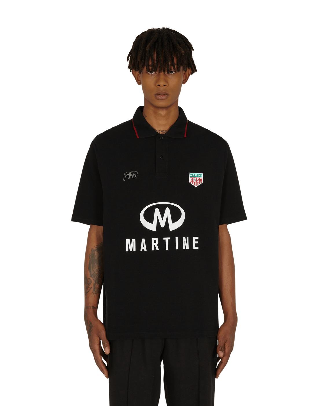 Photo: Martine Rose Logo Polo Shirt Black