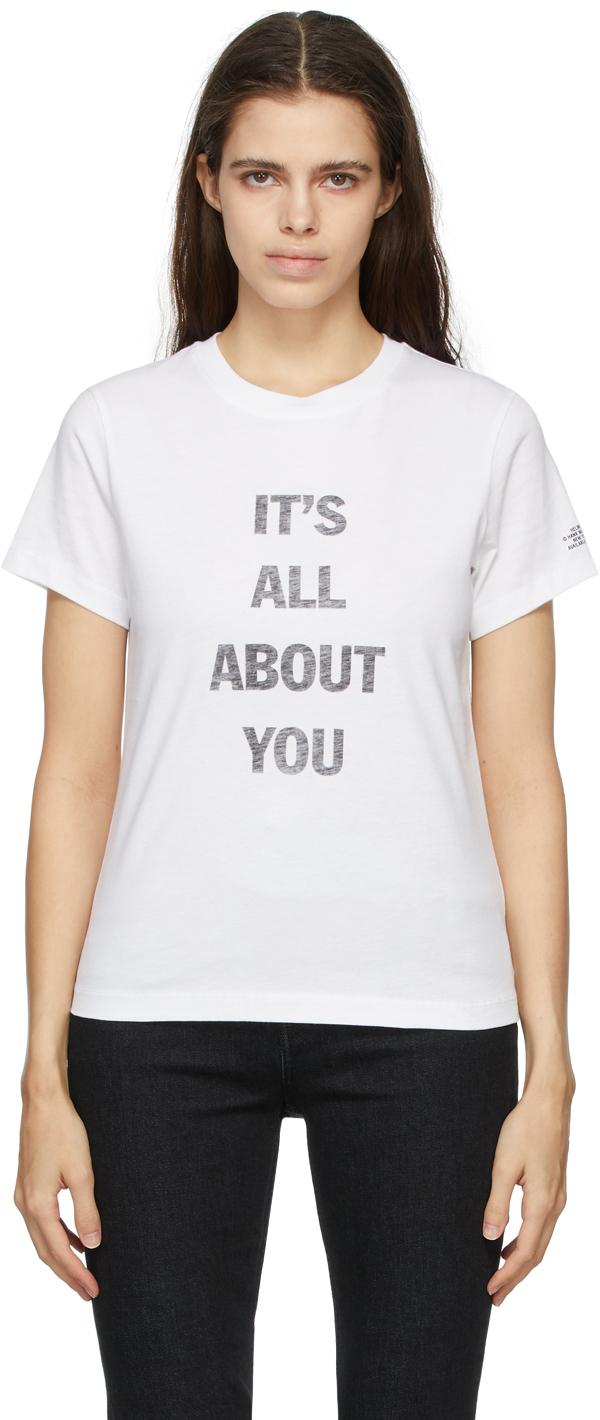 Photo: Helmut Lang White Hank Willis Thomas Edition Logo T-Shirt