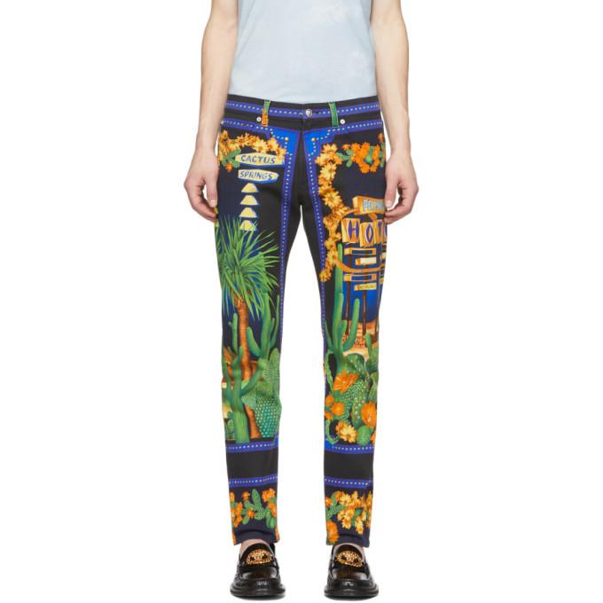 Versace Multicolor Palm Springs Jeans