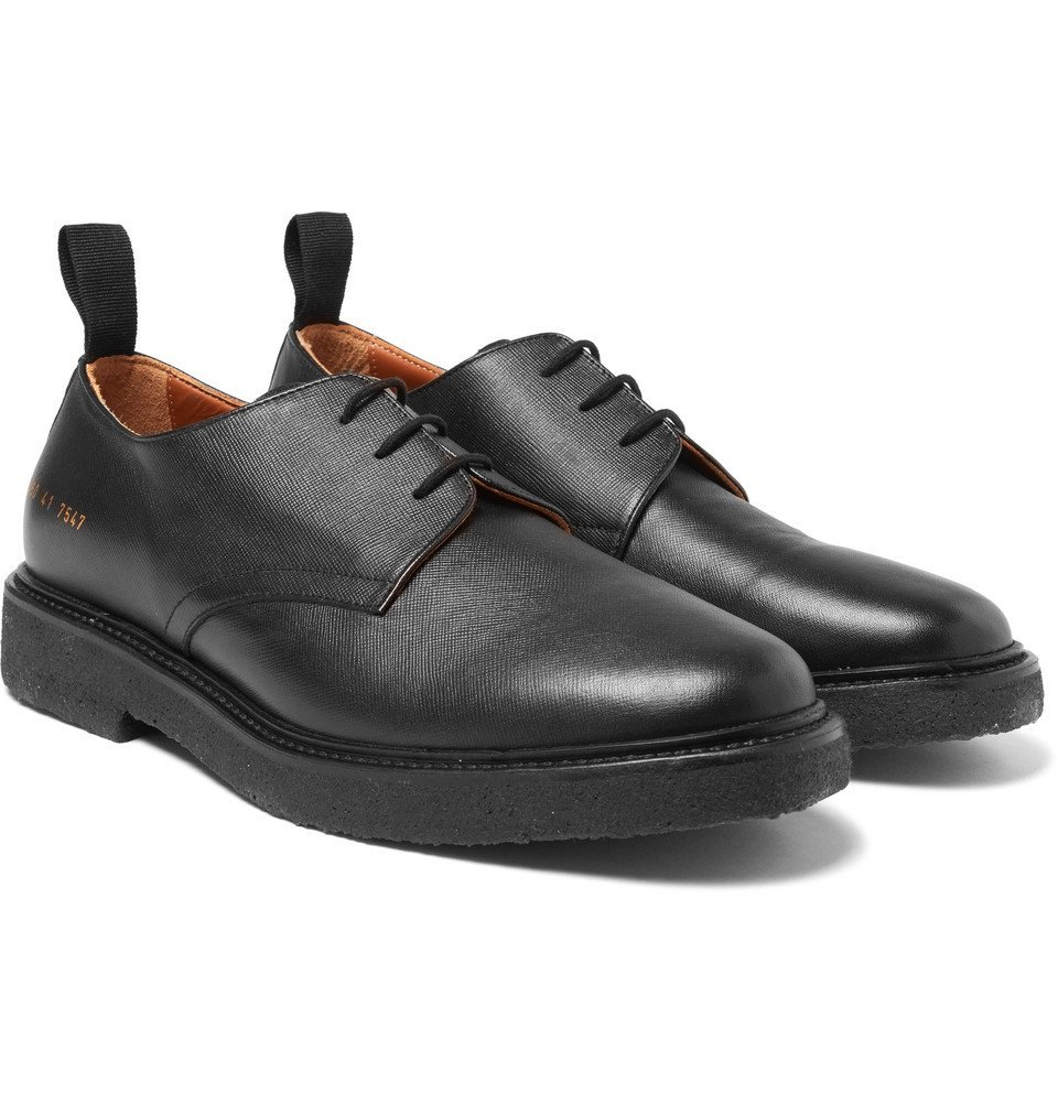 Common Projects - Cadet Saffiano Leather Derby Shoes - Men - Black
