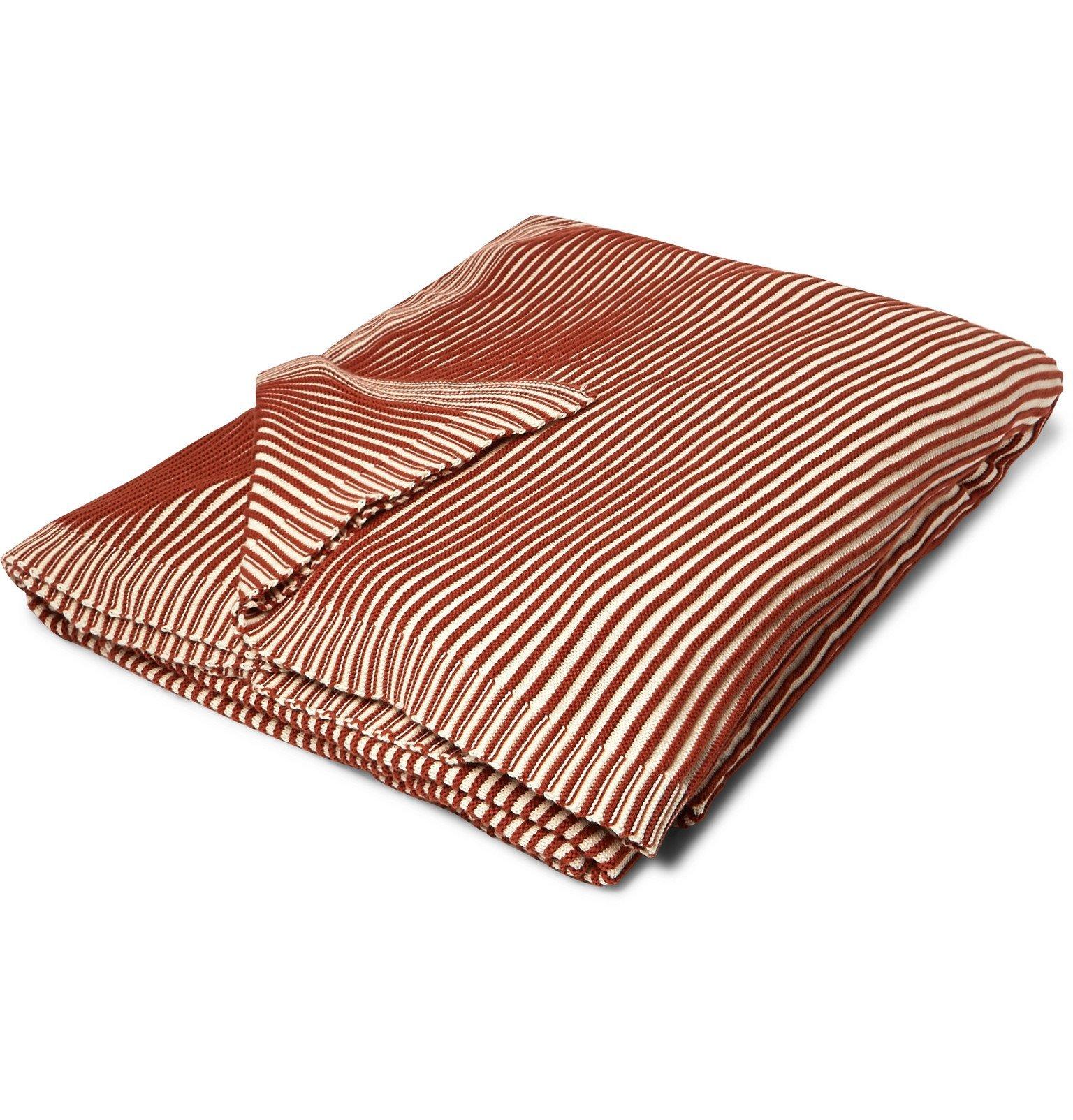 Photo: Soho Home - Warehouse Striped Cotton Blanket - Orange