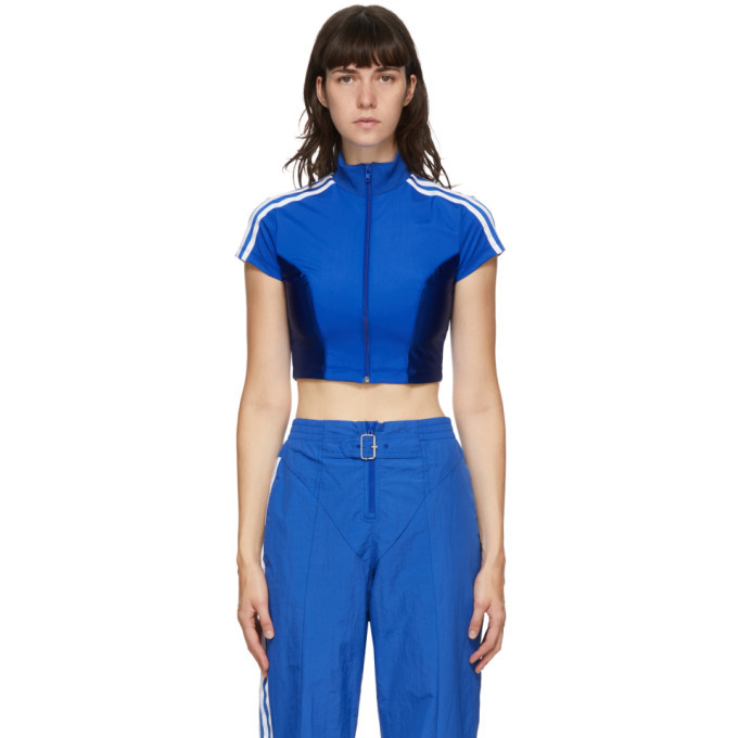 Photo: adidas Originals Blue Paolina Russo Edition Crop T-Shirt