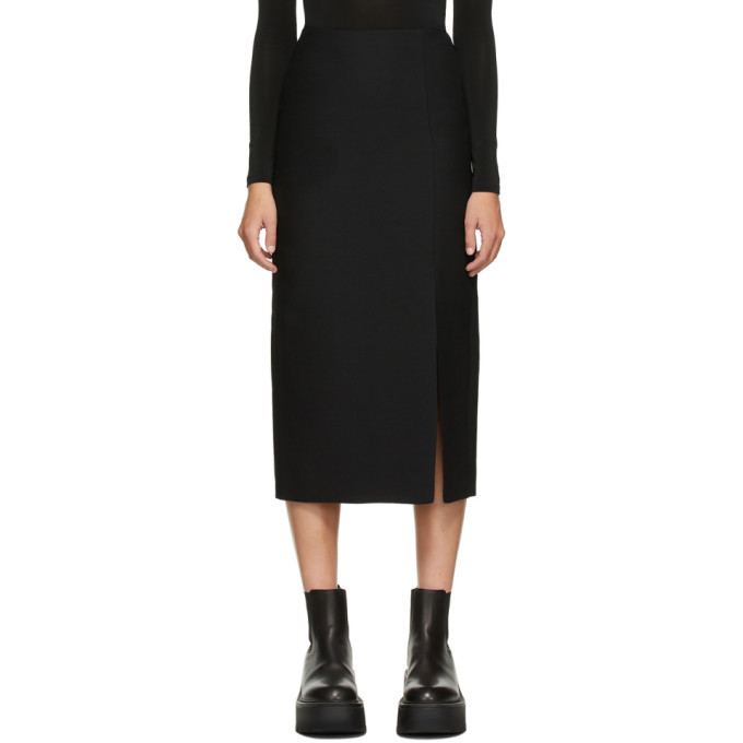 Photo: Valentino Black Wool and Silk Skirt