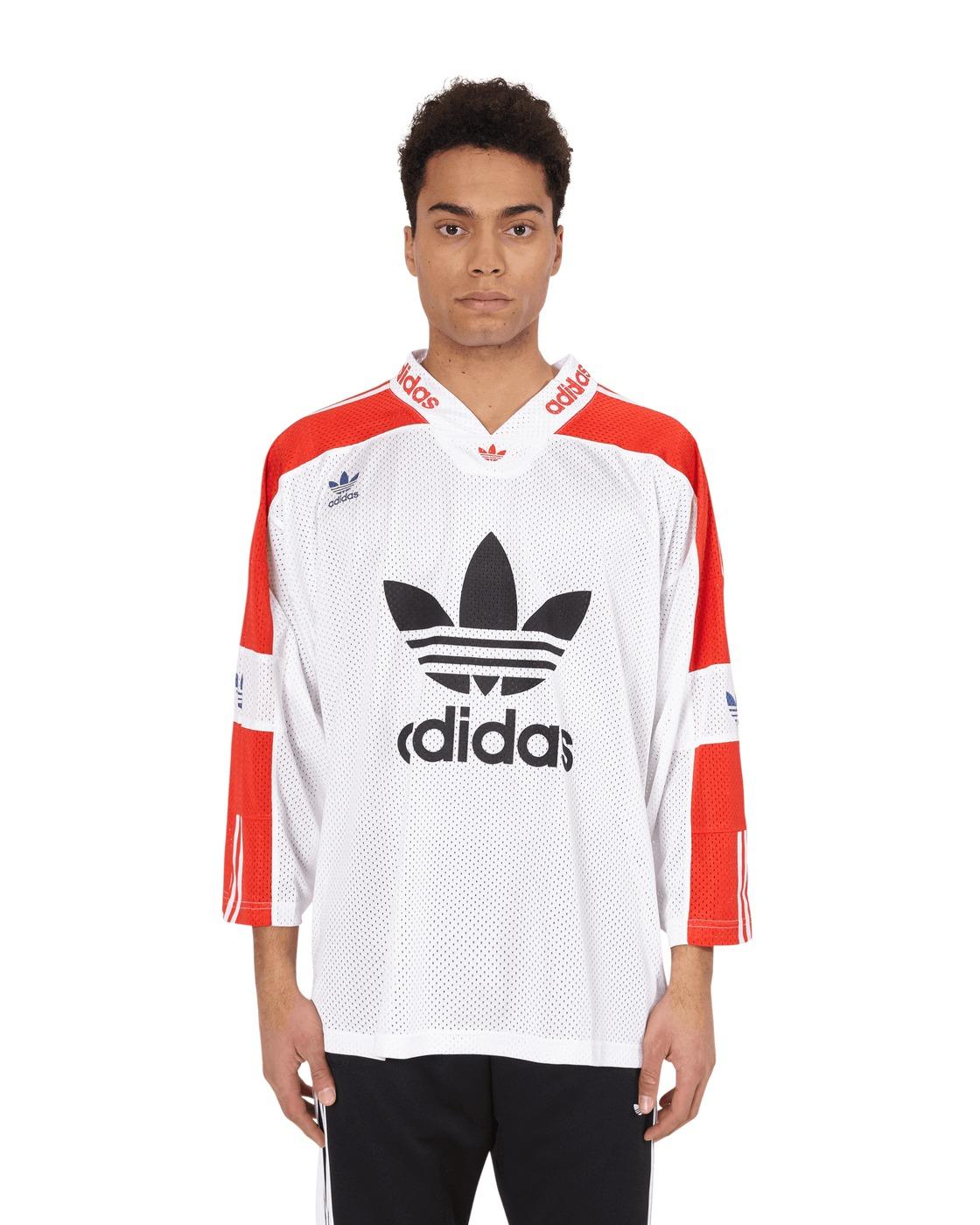 Adidas Originals Blueliner Trefoil Jersey White/Active Red