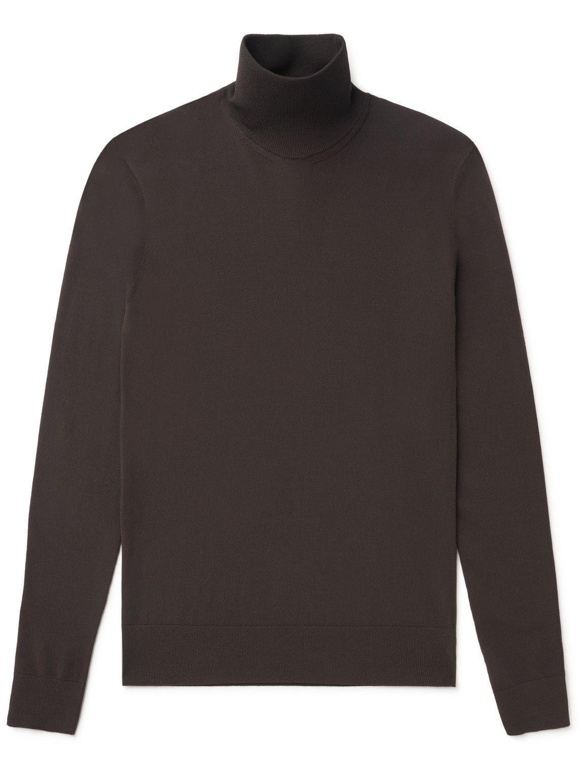 Photo: Bottega Veneta - Slim-Fit Technoskin Rollneck Sweater - Brown