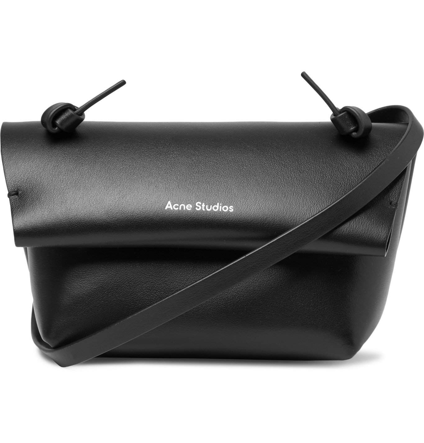 Photo: Acne Studios - Small Leather Messenger Bag - Black