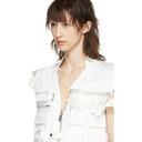 Sacai White Lace Zipper Vest