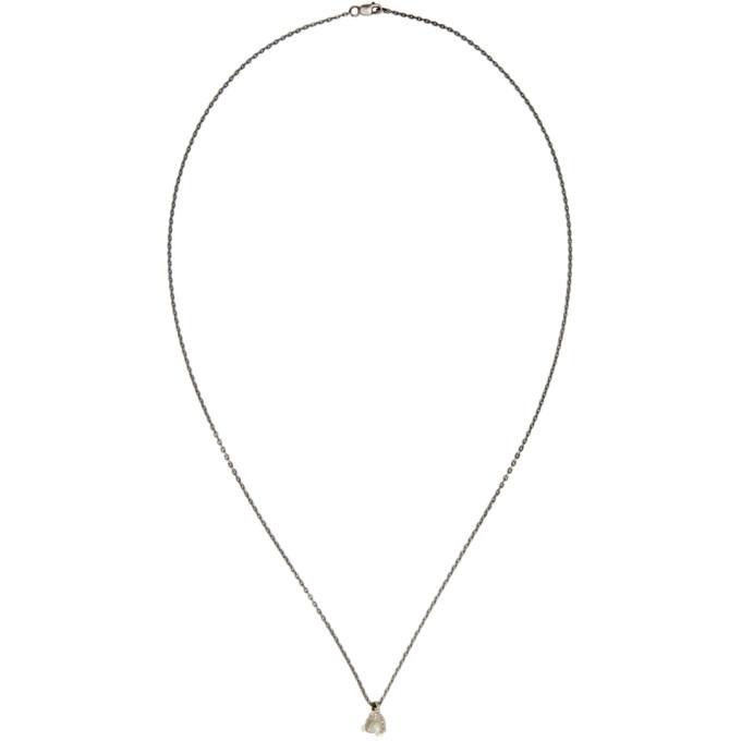 Photo: Pearls Before Swine Silver Raw Diamond Pendant Necklace