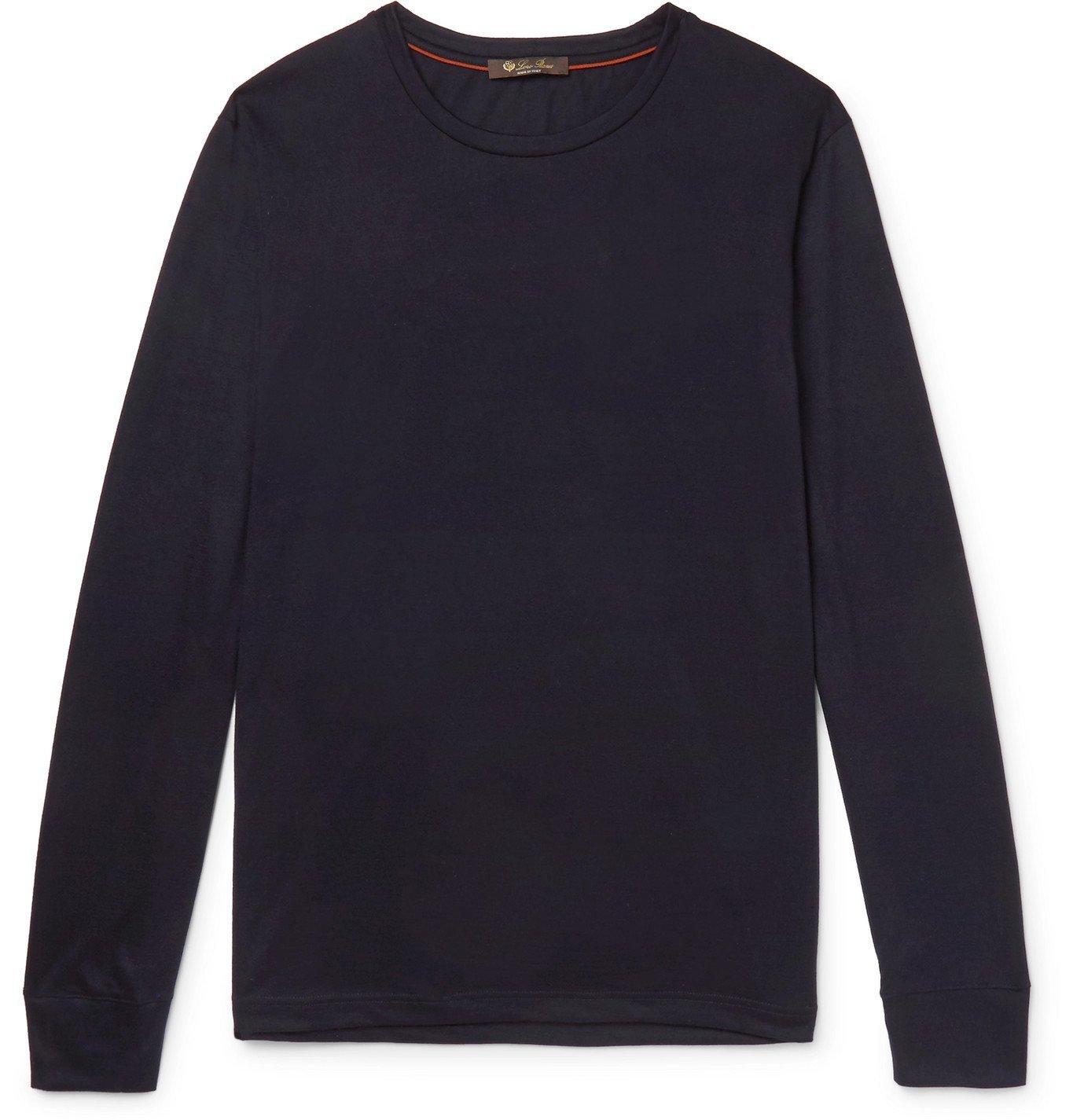 Photo: Loro Piana - Slim-Fit Cashmere-Jersey T-Shirt - Blue