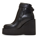 Sacai Black Wedge Boots