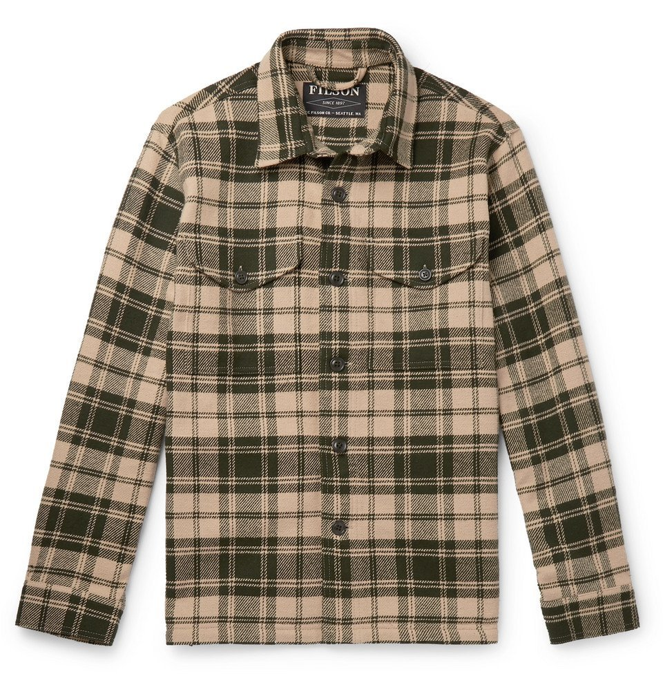 Photo: Filson - Deer Island Checked Brushed Cotton-Twill Overshirt - Green