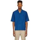 3.1 Phillip Lim Blue Wool Notched Lapel Shirt