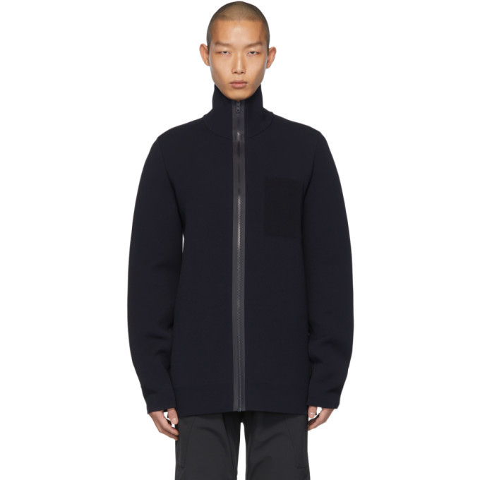 Photo: Bottega Veneta Navy Scuba Double Sweater