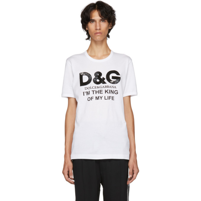 Photo: Dolce and Gabbana White King Of My Life T-Shirt