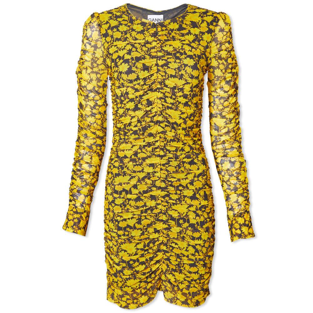 Photo: GANNI Ruched Mini Dress
