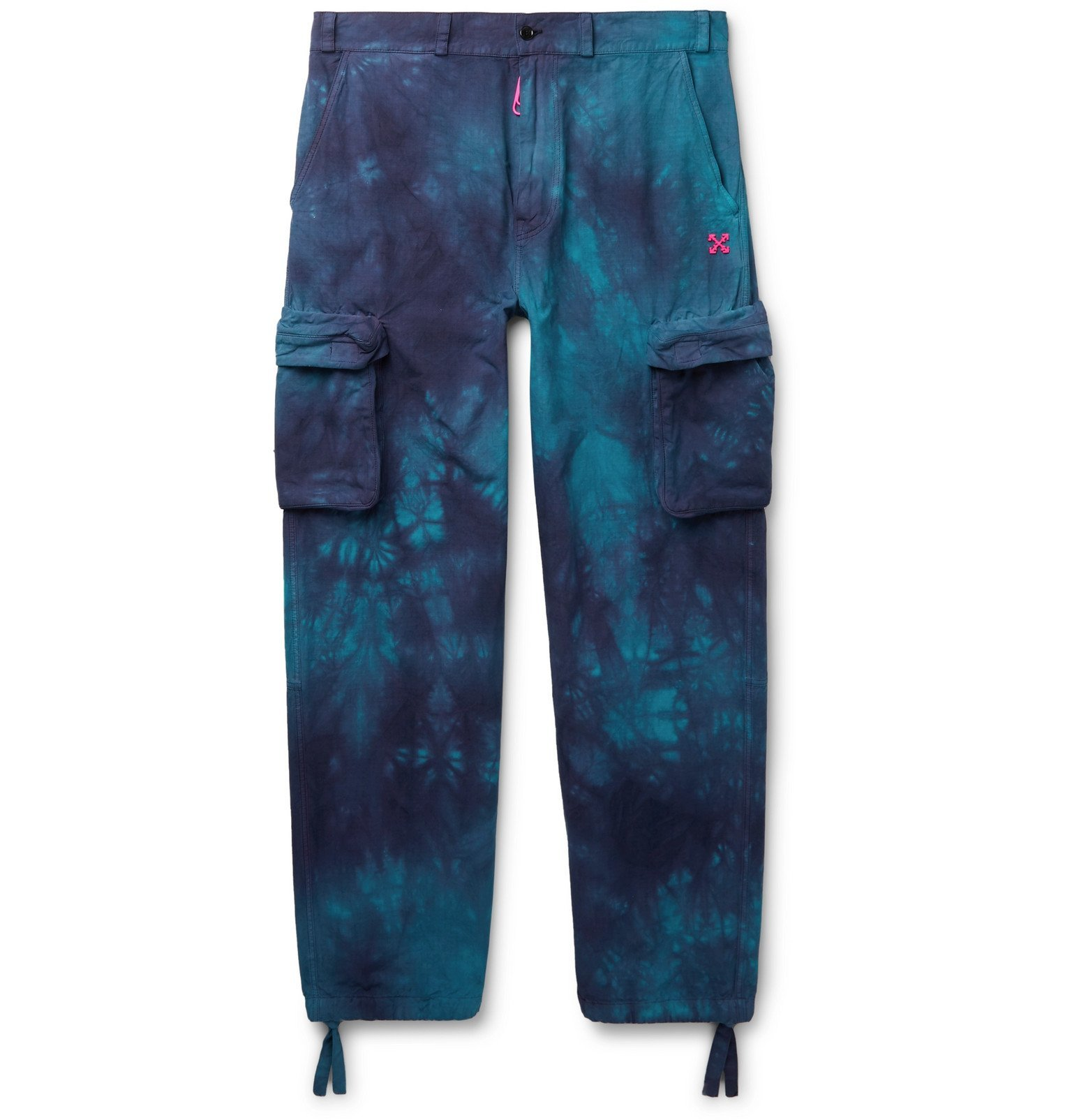 Photo: Off-White - Tie-Dyed Ripstop Cargo Trousers - Blue