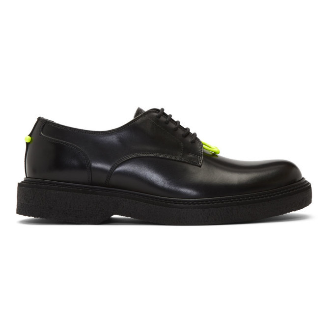 Photo: Neil Barrett Black Neon Detail Pierced Punk Derbys