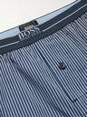 HUGO BOSS - Striped Cotton-Poplin Pyjama Shorts - Blue