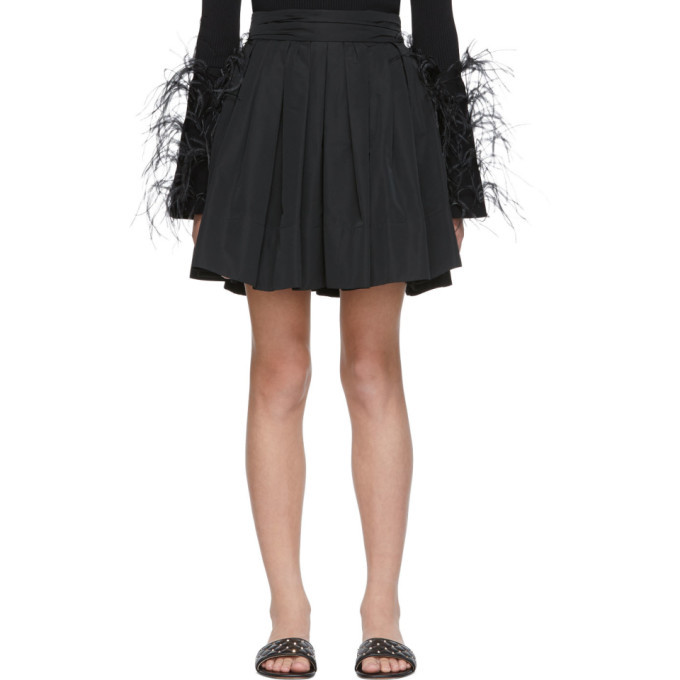 Photo: Valentino Black Faille Pleated Skirt