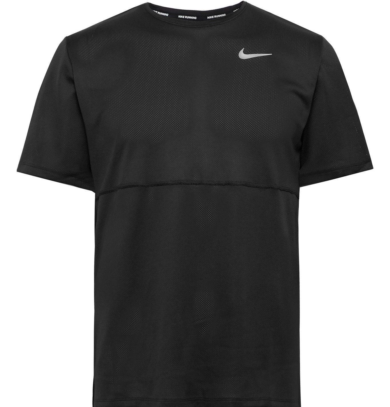 Nike Running - Breathe Dri-FIT Mesh T-Shirt - Black