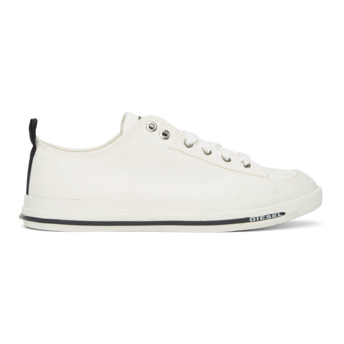 Photo: Diesel White S-Astico Low Sneakers