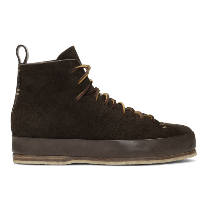Photo: Feit Brown Suede Hand Sewn High Sneakers