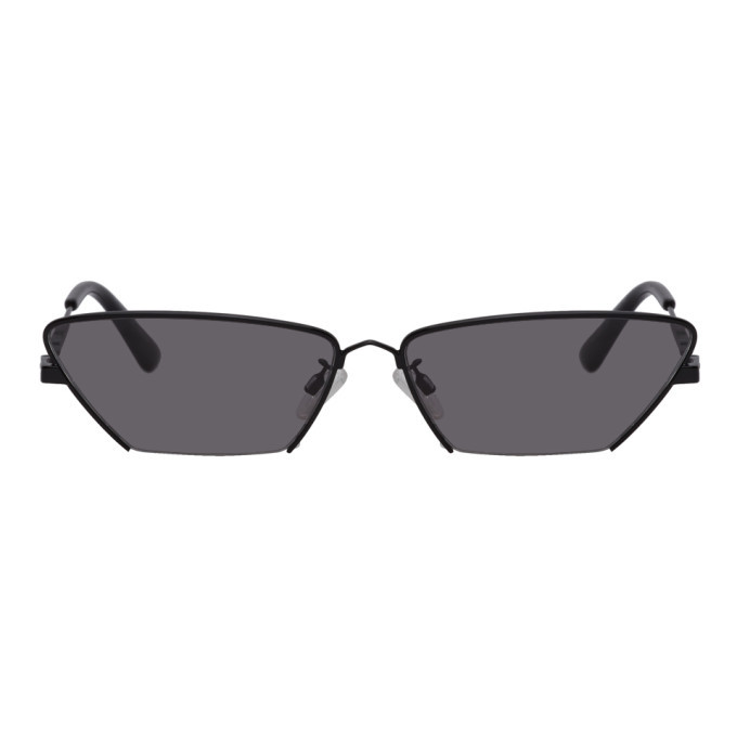 Photo: McQ Alexander McQueen Black Cat-Eye Sunglasses